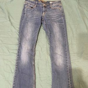Junior's Light Wash Bootcut 9 Long Jeans